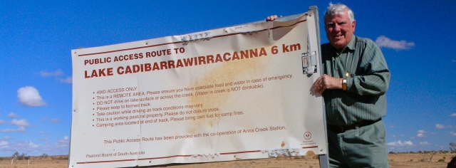 Australia's longest place name , on the largest cattle station in the world, along the track from Coober Pedy